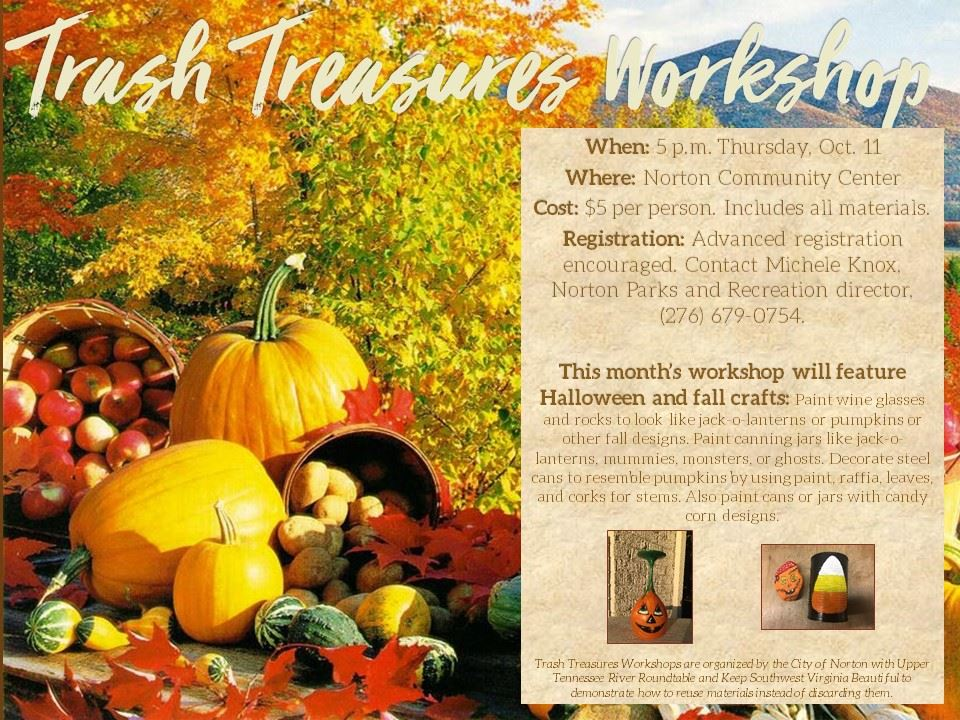 Trash Treasures Workshop October 2018