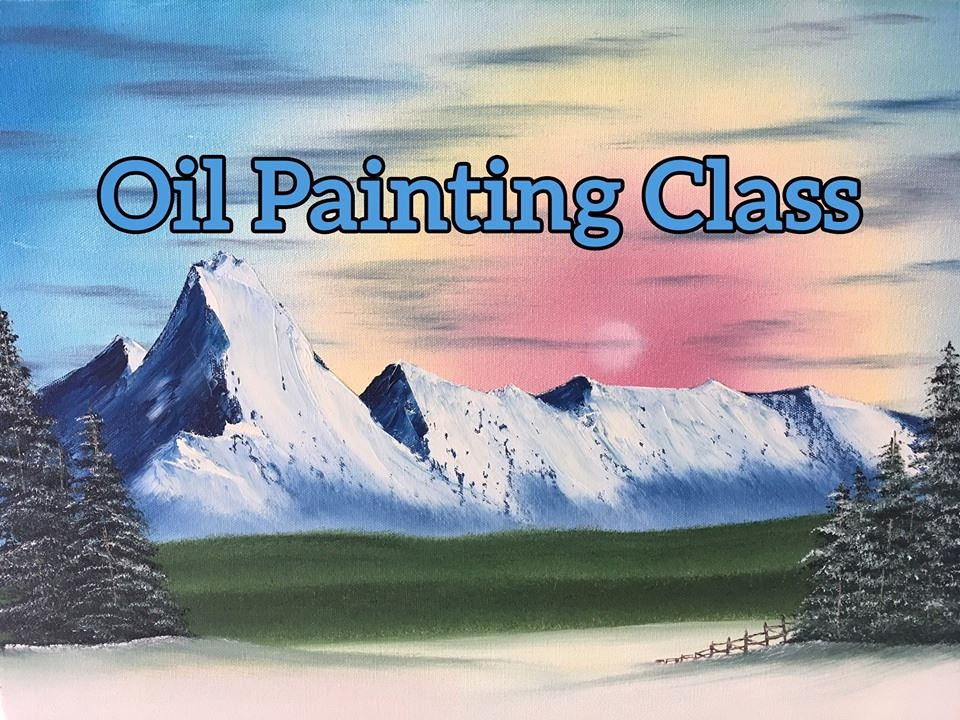 Photo of announcement about oil painting class