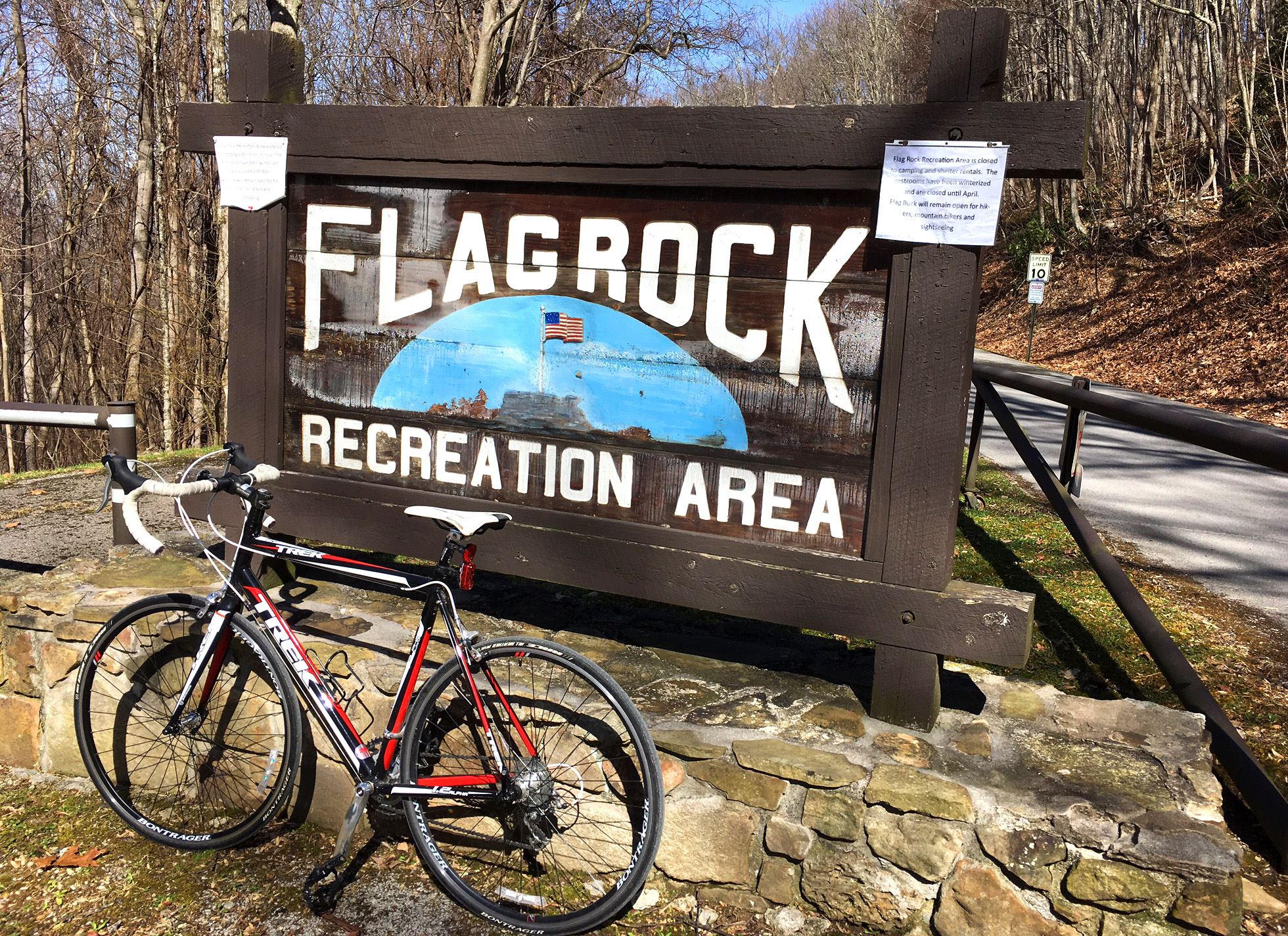 Photo of a bicycle at Flag Rock Recreation Area