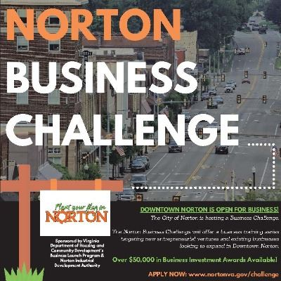 Photo of flyer advertising Norton Business Challenge