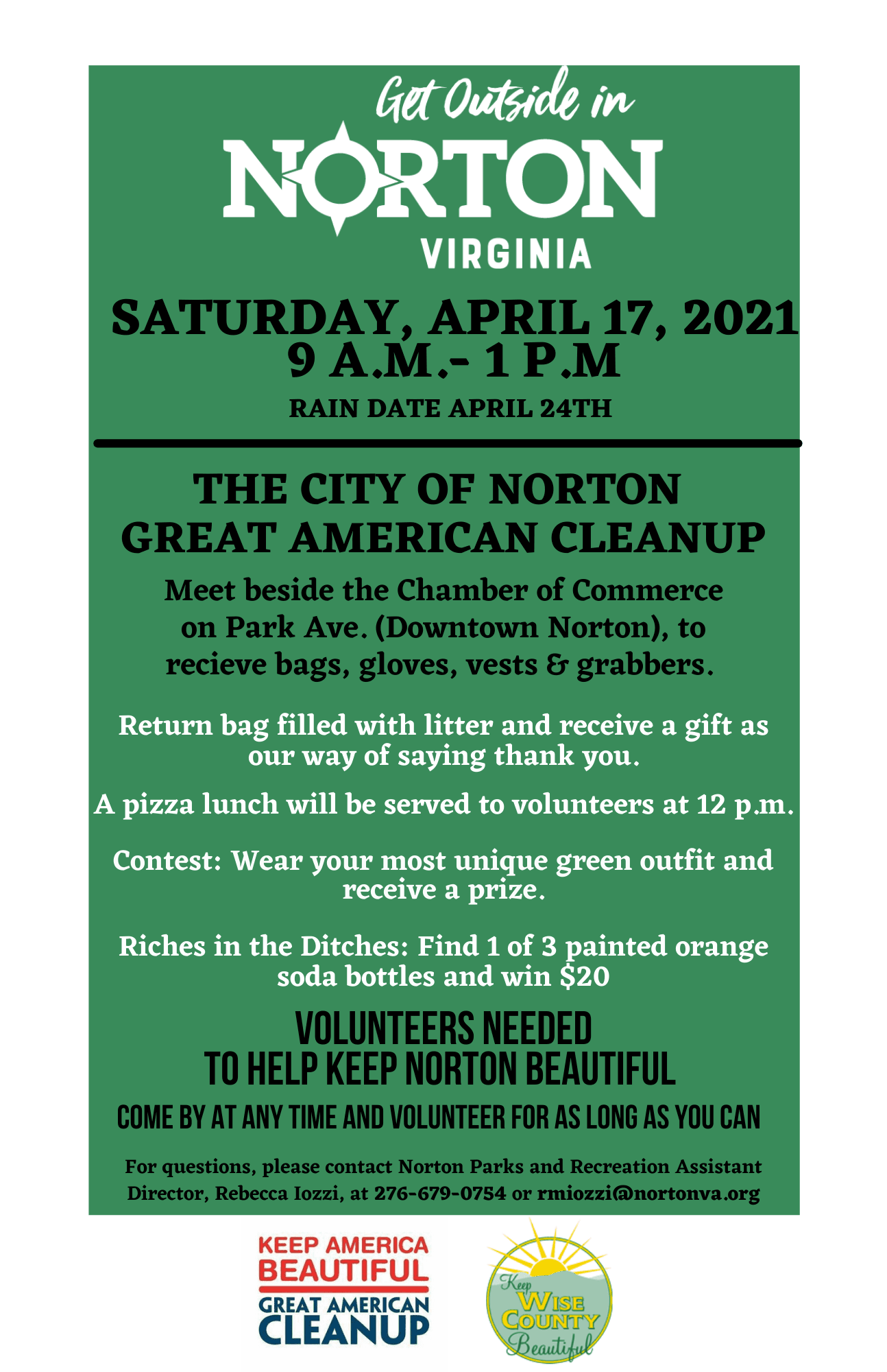 Photo of Great American Cleanup Flyer