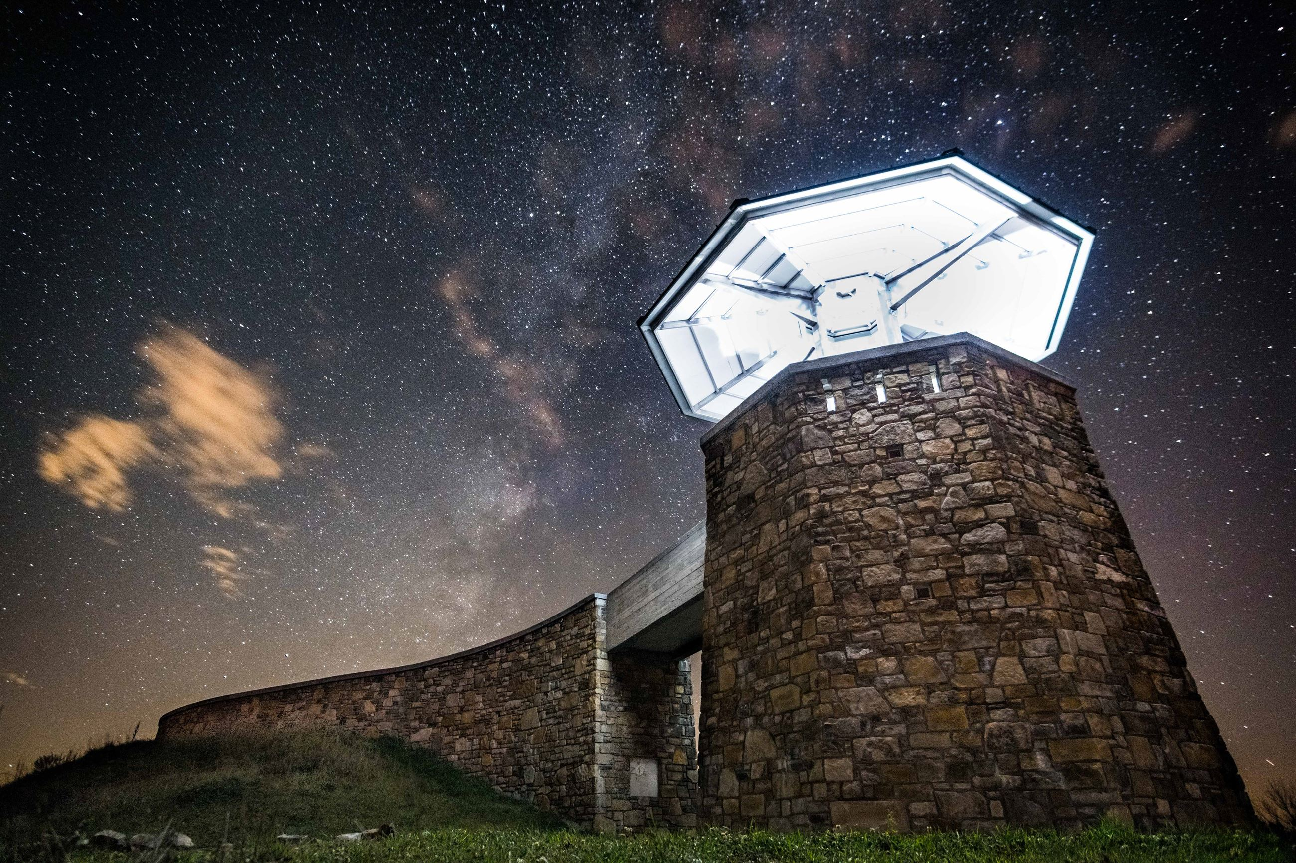 Photo of High Knob Observation Tower at night