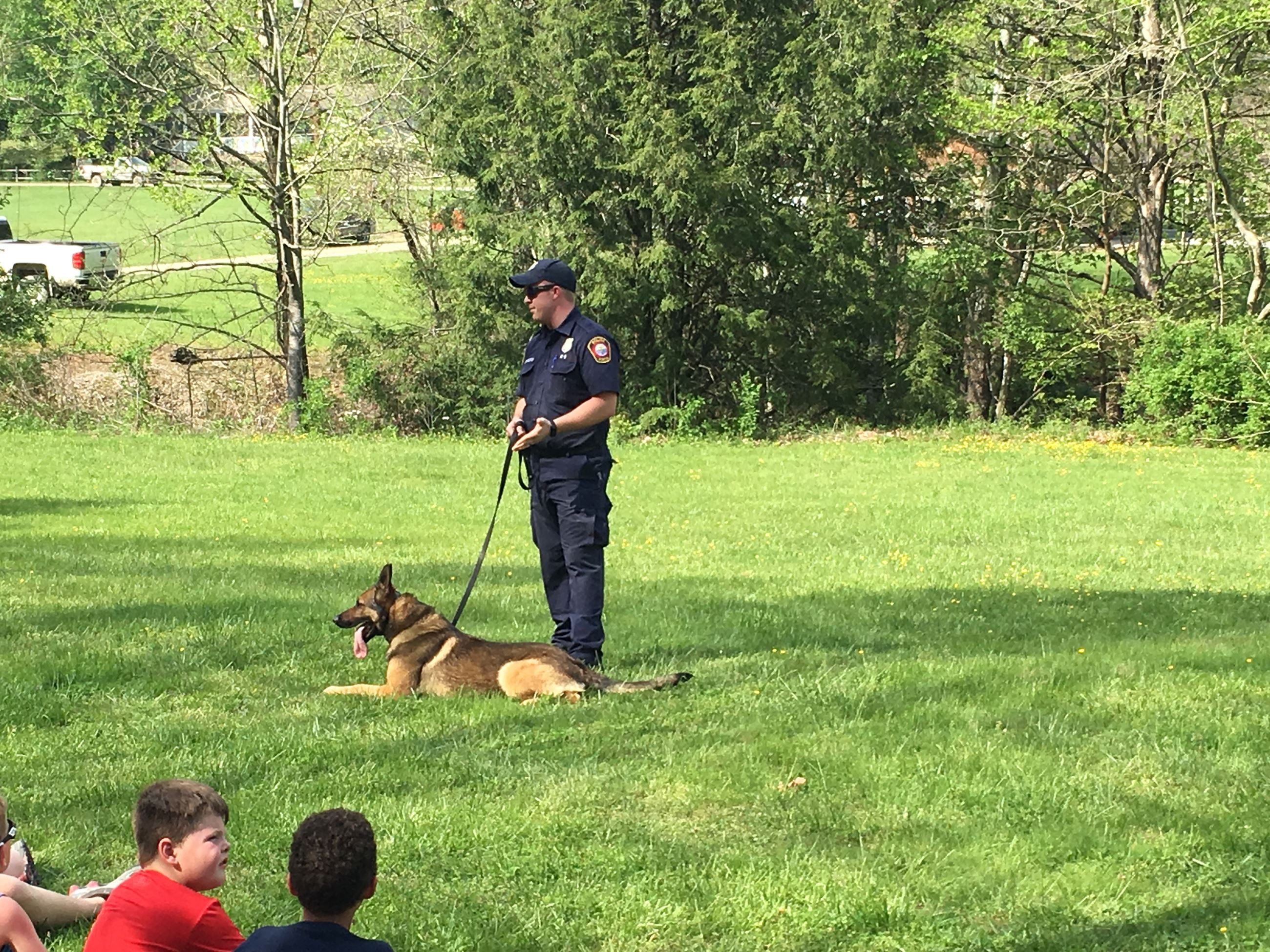 Photo of Officer Tanner Powers and K-9 Jax