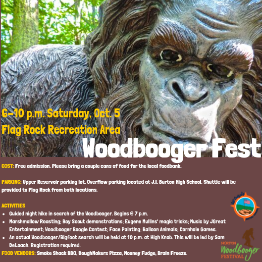 Photo of the Woodbooger Fest Flyer