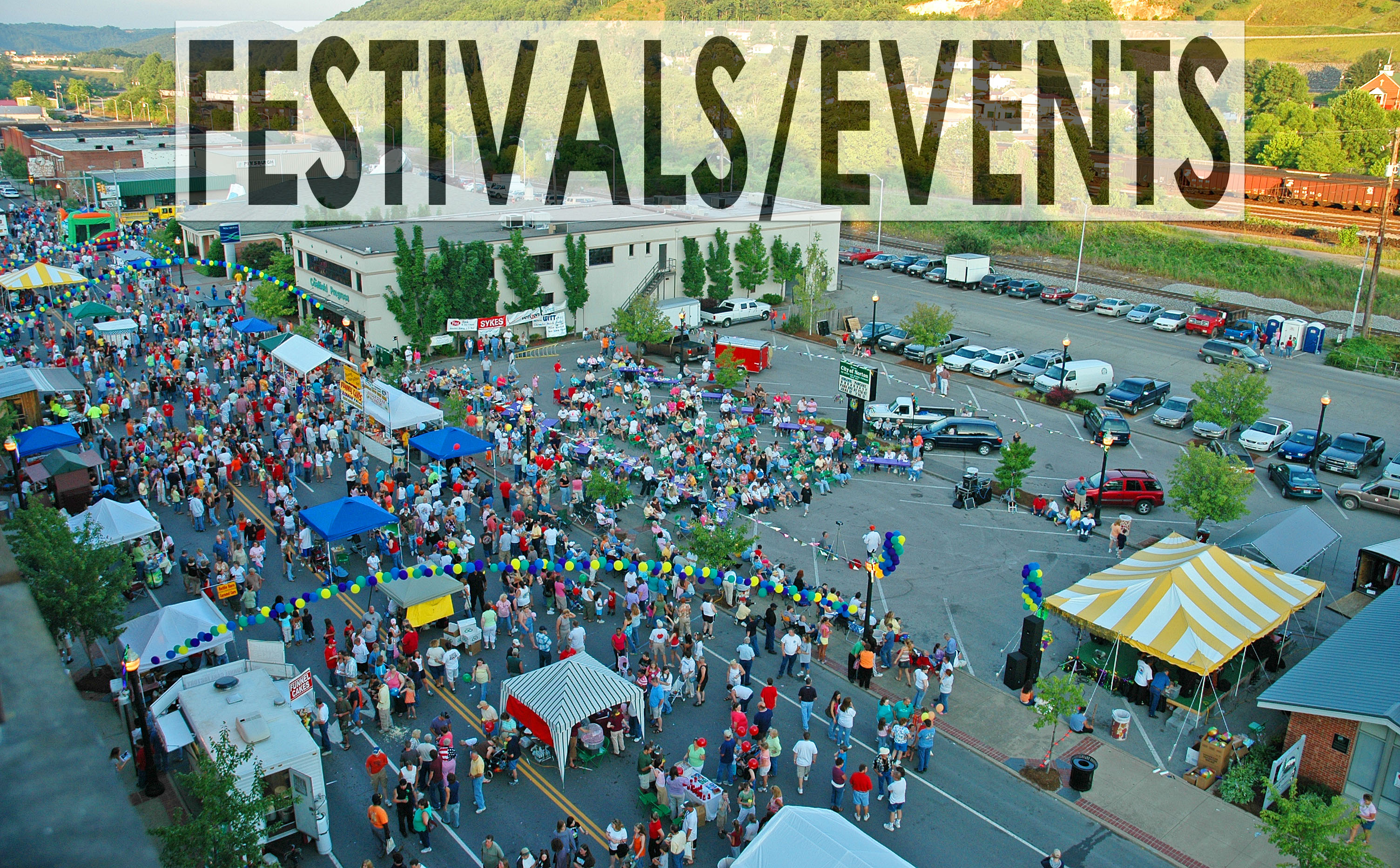 Aerial picture of Norton Best Friend Festival