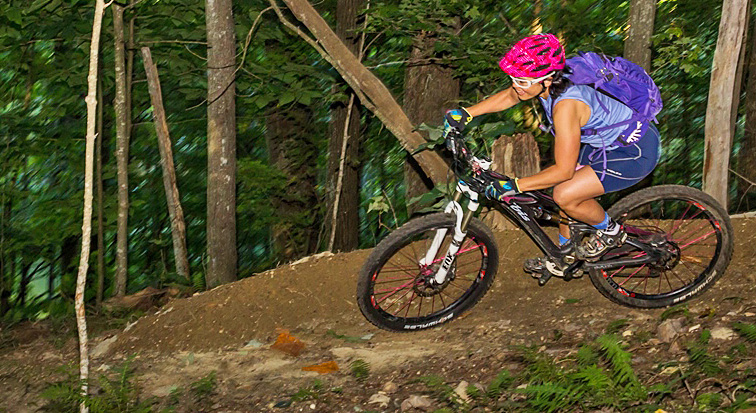 Picture of mountain biker riding Flag Rock Area Trails