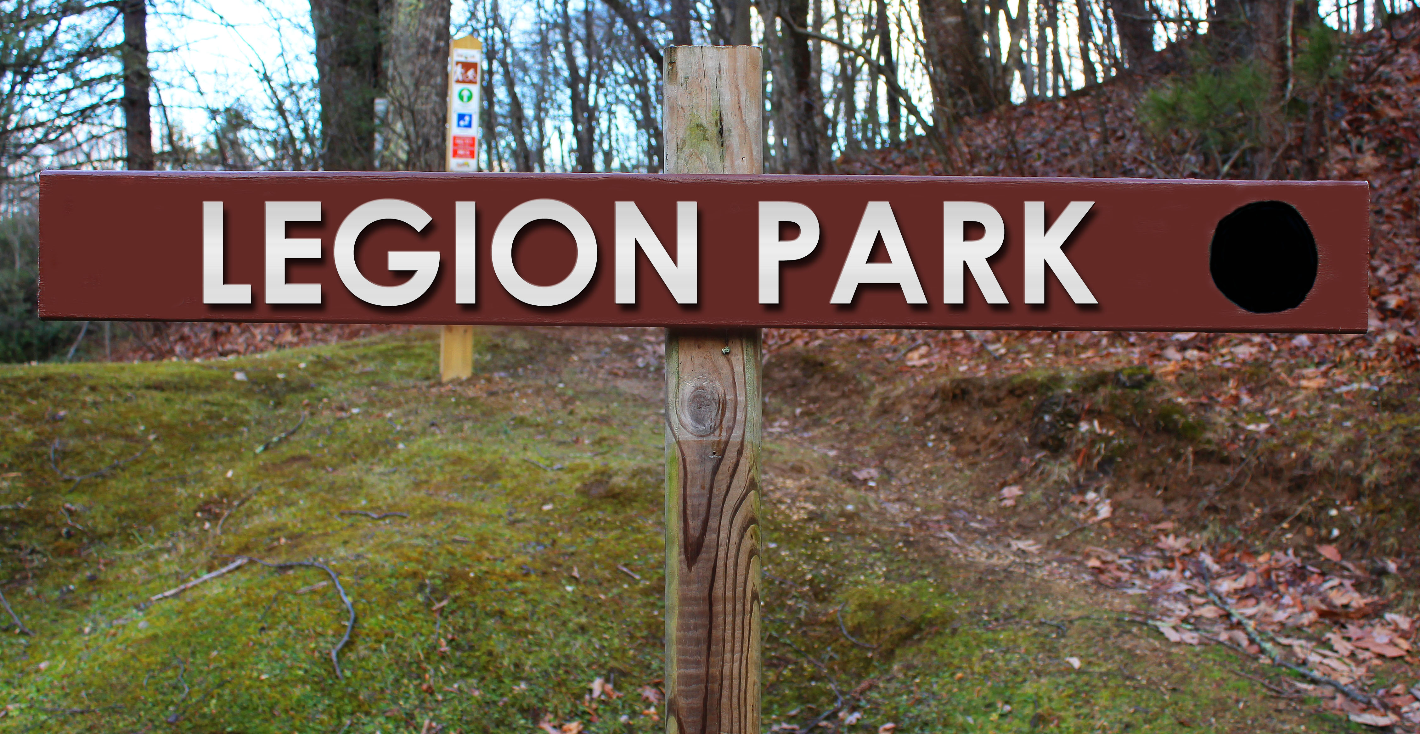 Picture of Legion Park trail sign