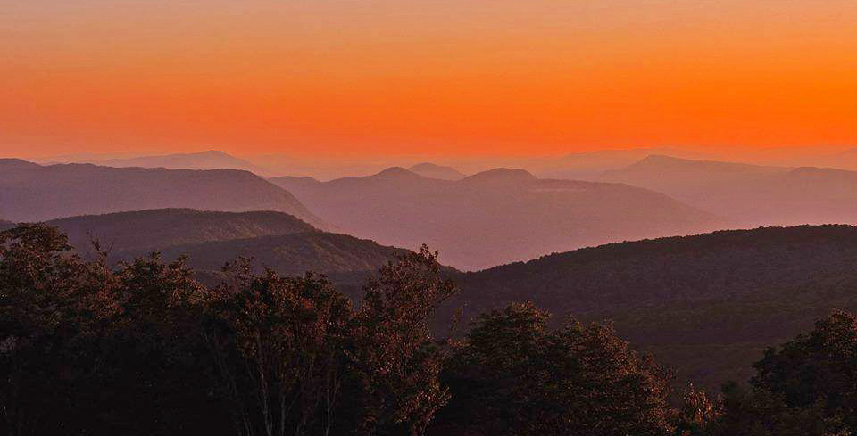 Picture of sunset from High Knob