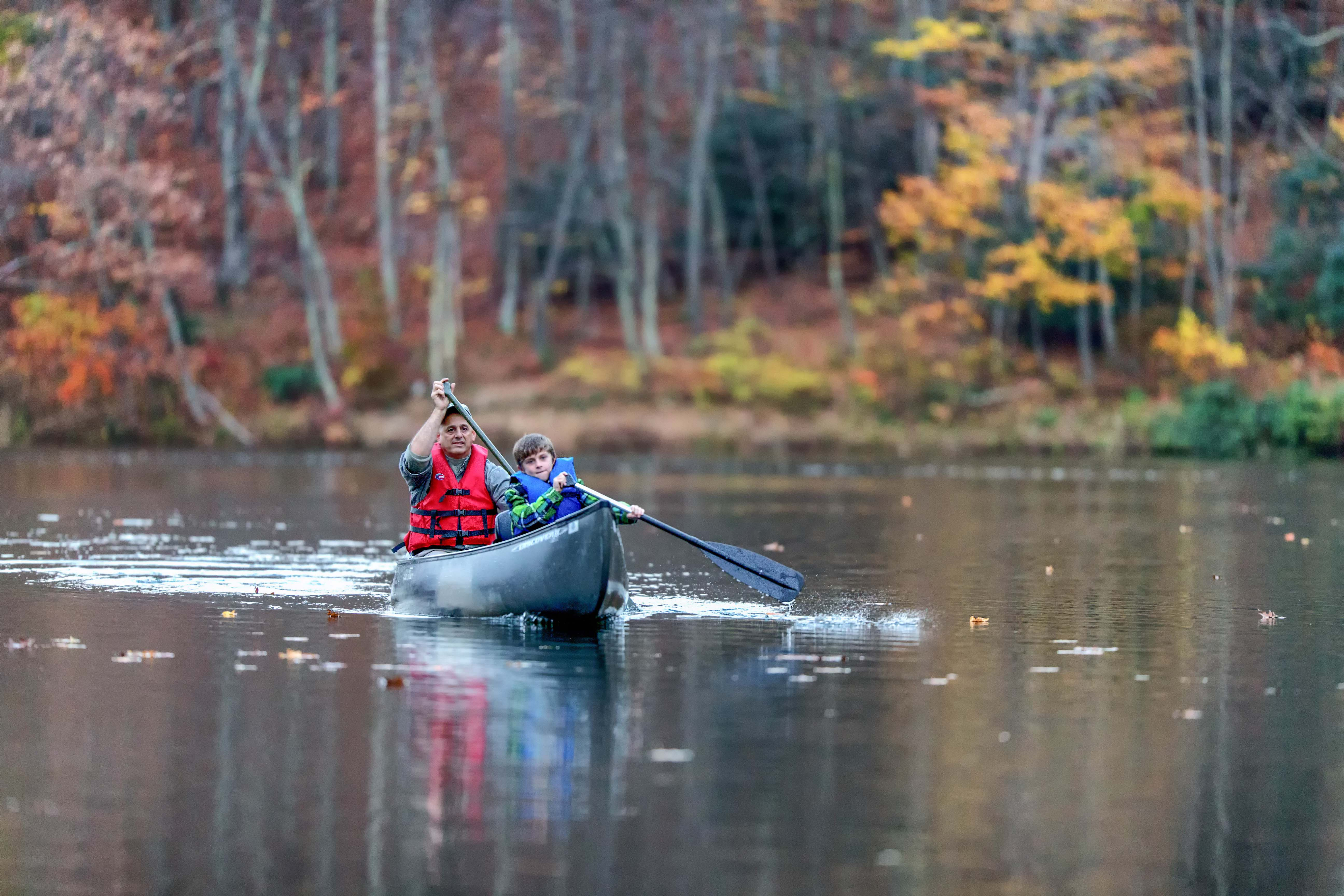 Picture of canoeists on Norton's Upper Reservoir