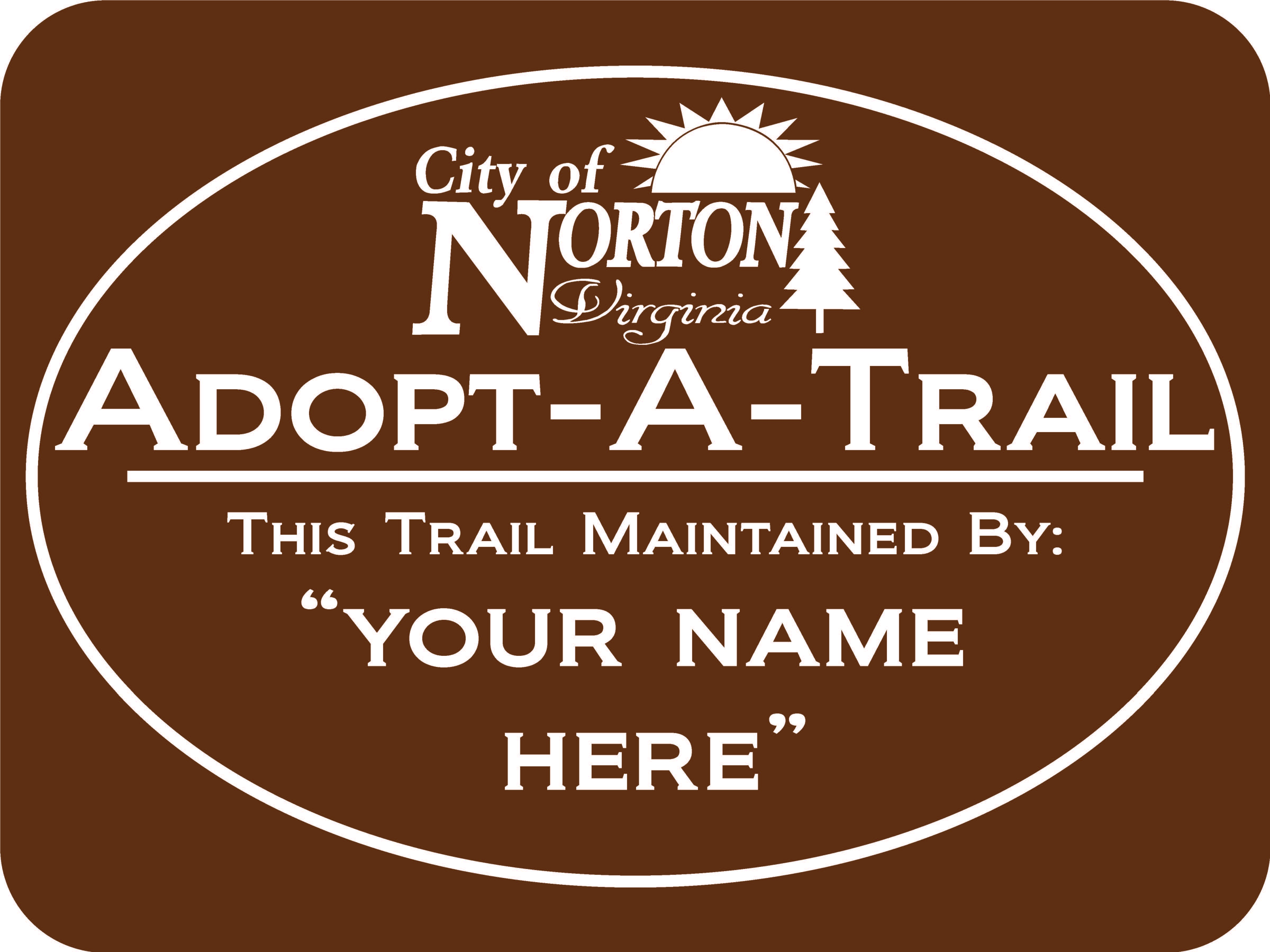 Picture of Adopt A Trail sign